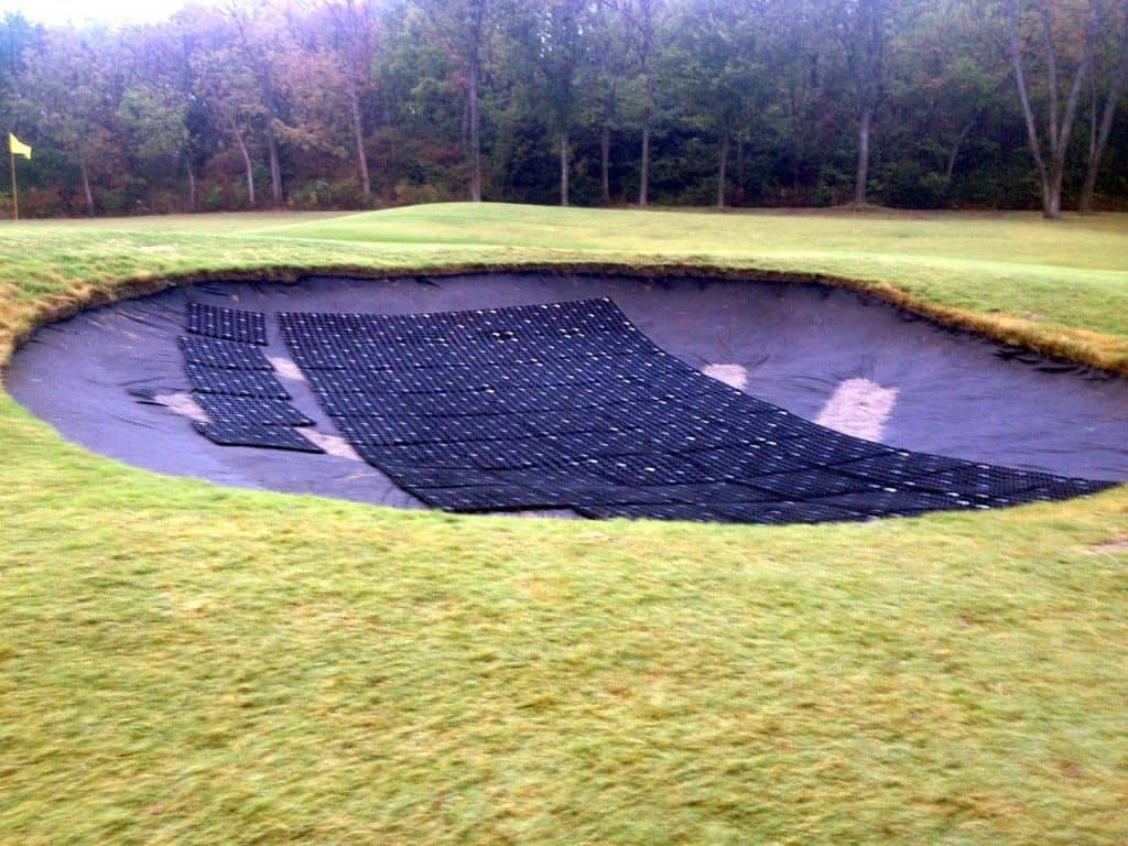 golf construction, putting green, bunker drainage, sand trap drainage, usga