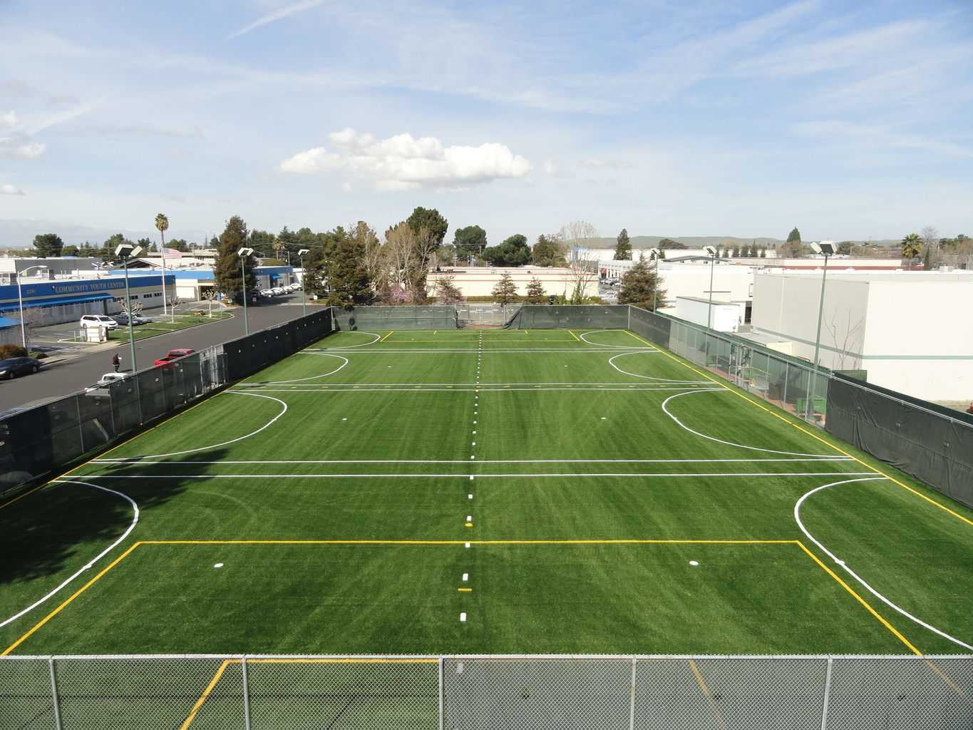 artificial grass, synthetic grass, fake grass, airdrain, turf on cement