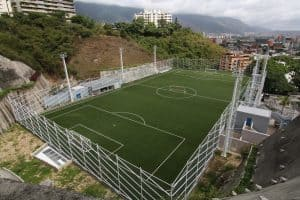 Escuela Campo Alegre Synthetic Rooftop Field, synthetic turf, green roof, drainage, artificial turf, synthetic green roof
