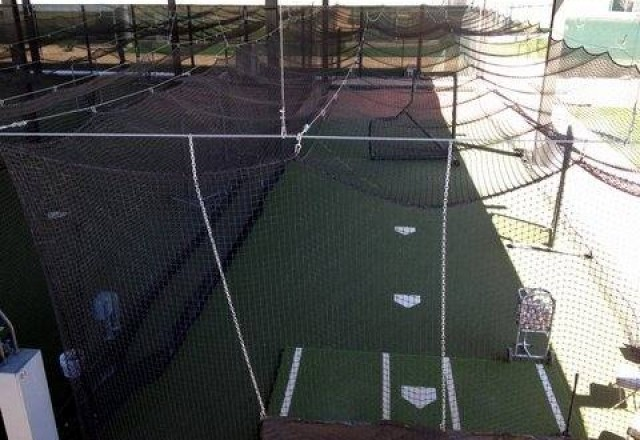 Batting Cages and Bullpen at the Diamondbacks spring training facility
