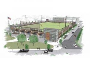 MSOE Rooftop Sports Field, synthetic turf, sportsfield, airdrain,