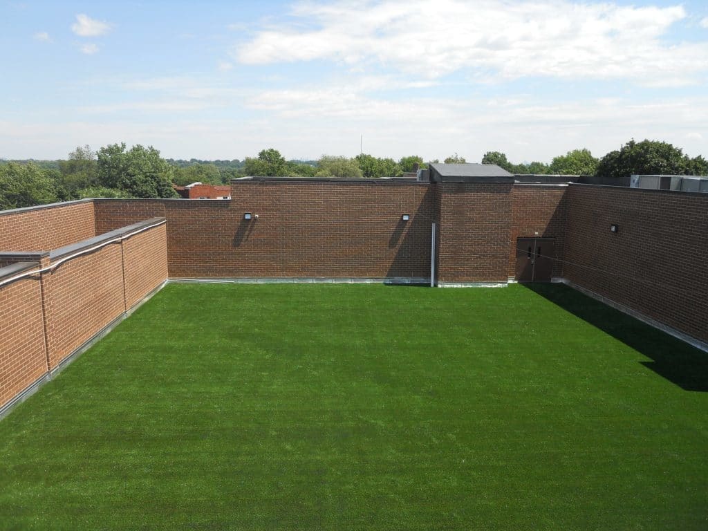 artificial grass, synthetic grass, fake grass, airdrain, synthetic turf, green roof, rooftop drainage, shockpad