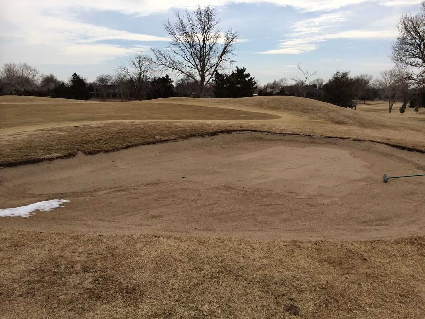 Airdrain Golf Bunker At The Greens Country Club In
