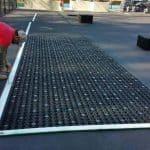 airdrain, Tennis Court, Tennis court conversion, play area, synthetic turf play area, synthetic turf, artificial turf, turf drainage, air grid, airgrid