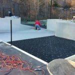 Tennis Court, Tennis court conversion, play area, synthetic turf play area, synthetic turf, artificial turf, turf drainage