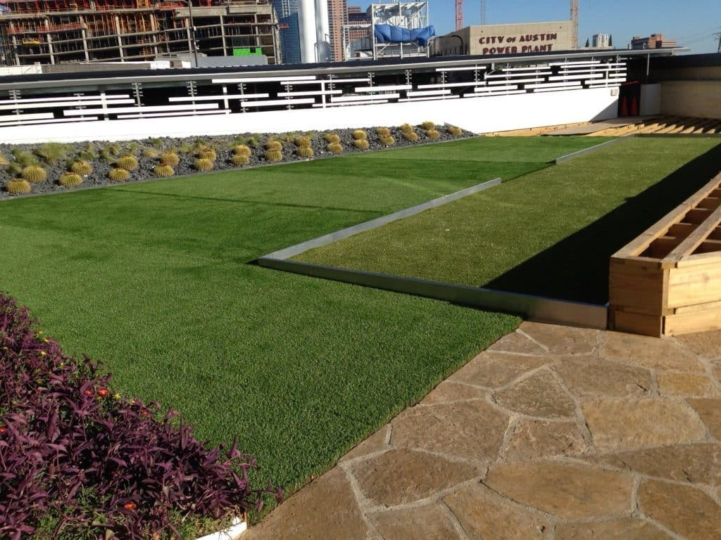 Synthetic Turf Installation Green Roof With Airdrain
