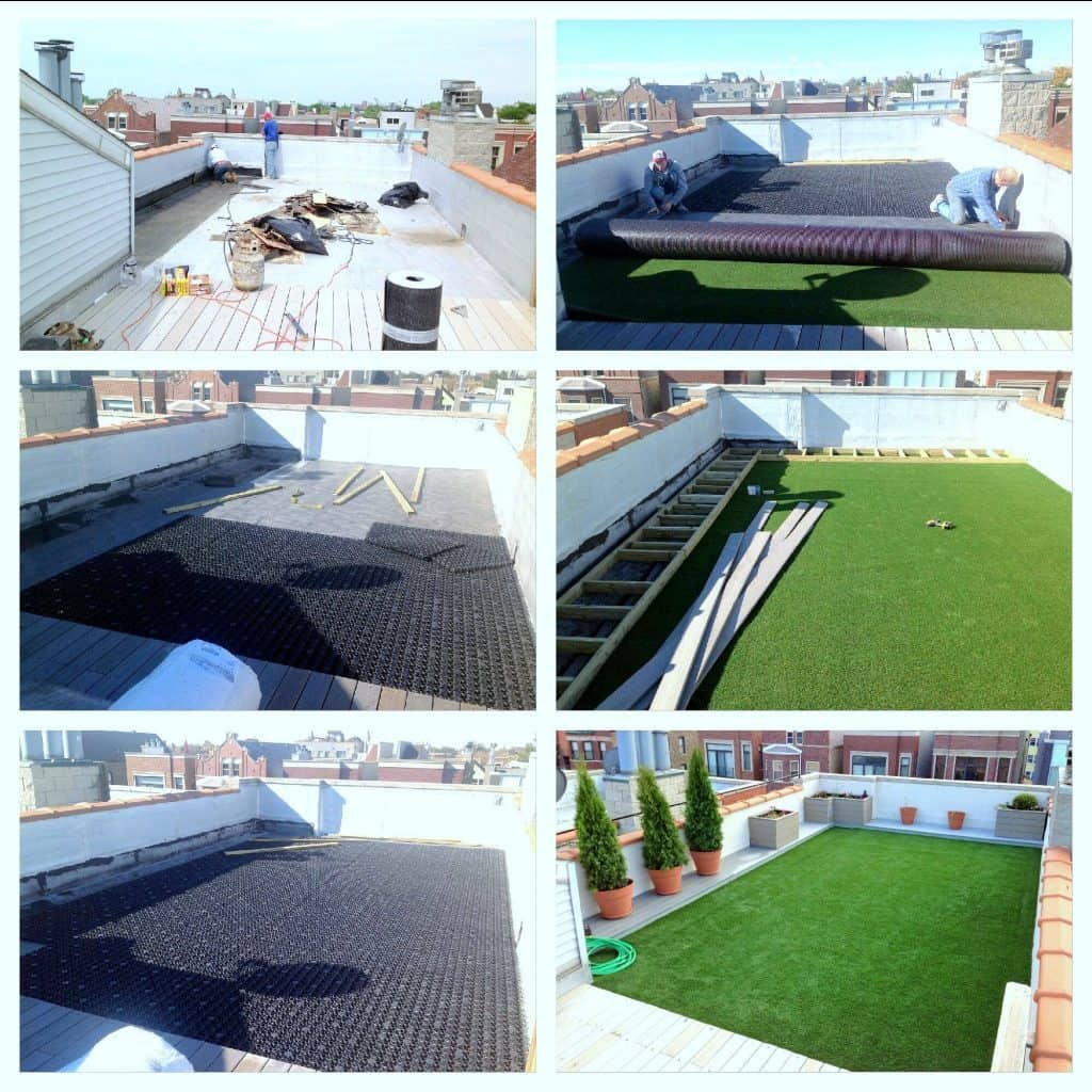 Green Roof Artificial Grass Drainage System Diy With Airdrain