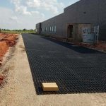Grass pave fire lane with porous flexible paving using airpave for Fire sprinkler system cost calculator
