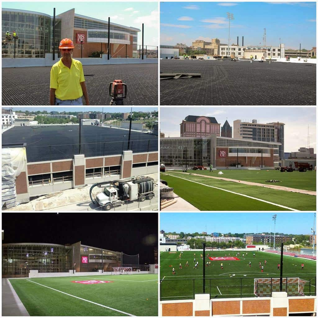 AirDrain, synthetic turf, artificial grass, drainage, shockpad, shock attenuation, green roof drainage, roof top sportsfield