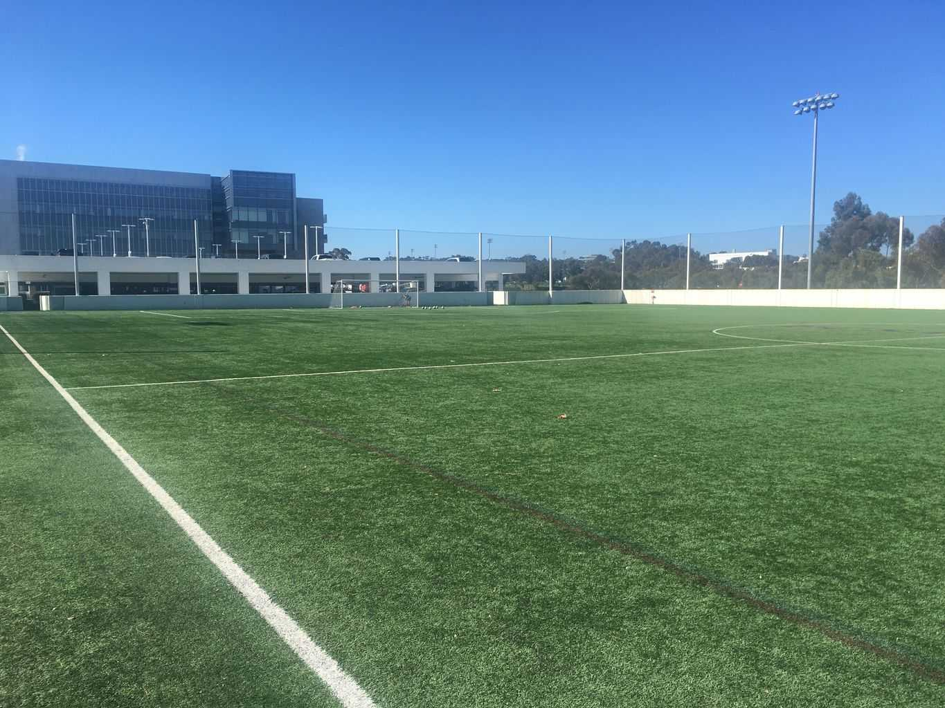 Artificial Grass AirDrain Roof Top Soccer Field At UCSD