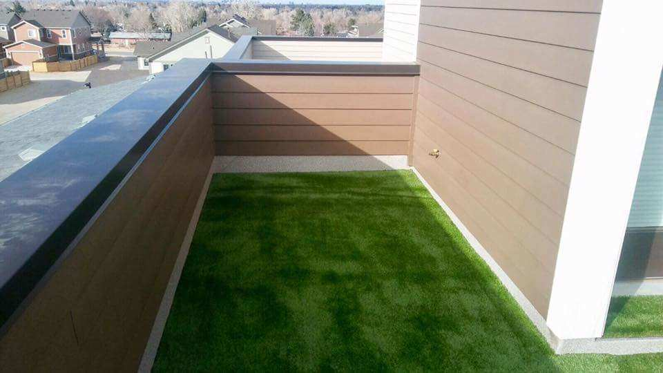 Artificial Grass With Airdrain On Roof Top Balcony Turf