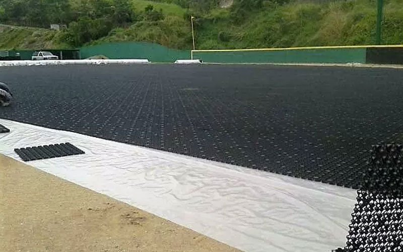 Sports field drainage, AirDrain, synthetic grass, artificial turf