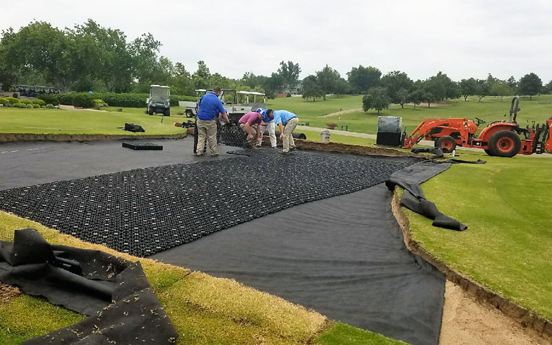 AirDrain, natural grass drainage, usga, golf construction, putting green construction