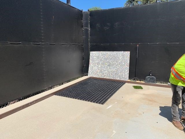 AirDrain Synthetic Grass Drainage Playground, shockpad, shock attenuation