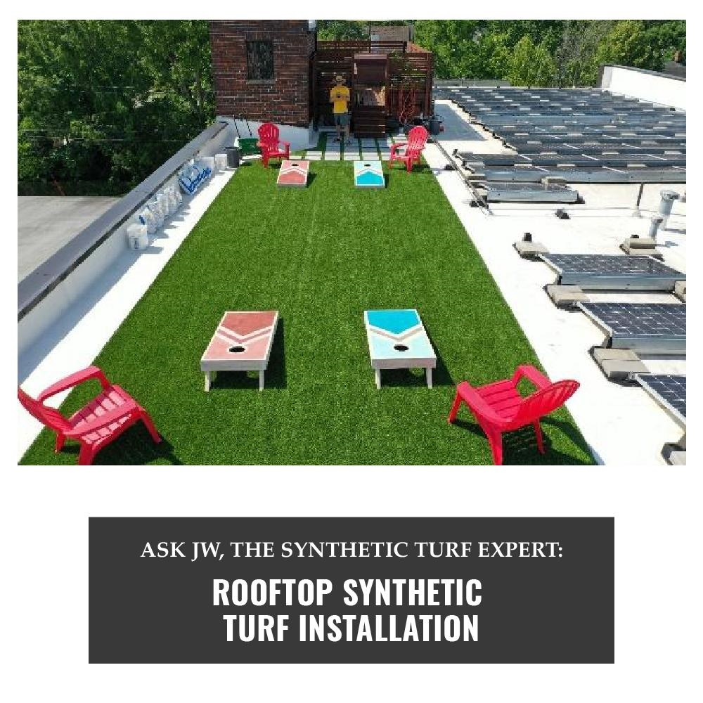 AirDrain Synthetic Grass Roof Top Installation