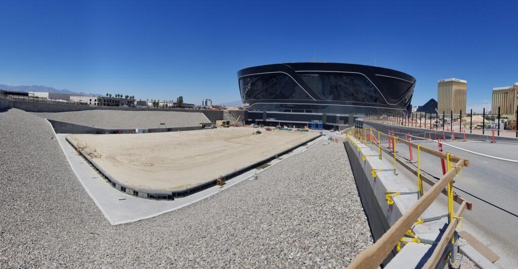AirDrain Natural Grass Field at Las Vegas Raiders Allegiant Stadium