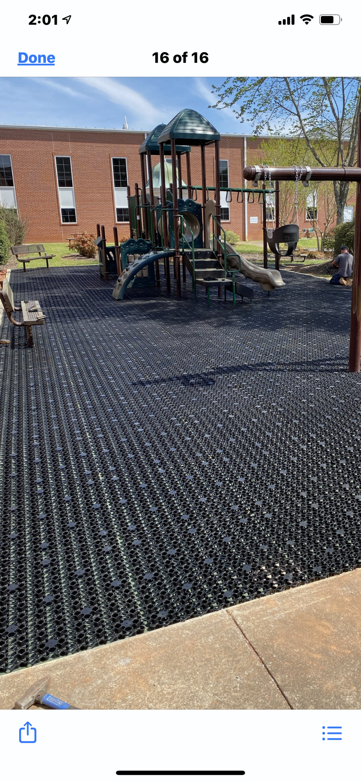 airdrain, playground drainage, artificial turf